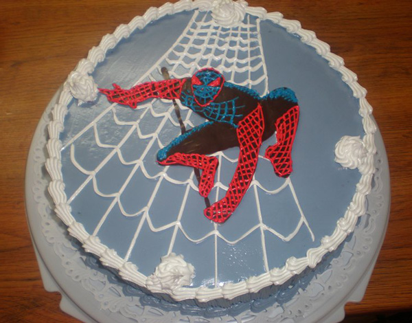 Торт человек паук своими руками фото 890