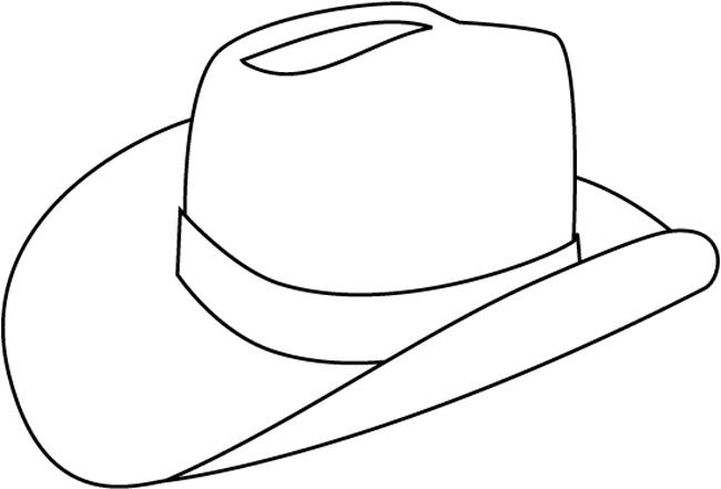 Раскраска картинка шляпка